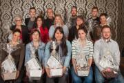 Les 15lauréats sont, première rangée: Maude Bégin, Geneviève... - image 6.0