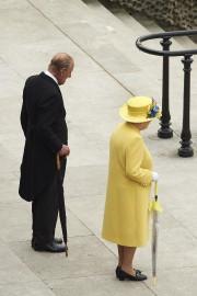 La reine Élisabeth II et le prince Philip... (Photo AFP) - image 3.0