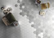 Les carreaux hexagonaux seuls permettent aussi de faire... (fournie par Céragrès) - image 2.0