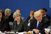 Theresa May et Donald Trump ont profité de... (AFP, Matt Dunham) - image 4.0