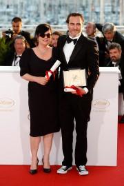 La réalisatrice Lynne Ramsay et l'acteur Joaquin Phoenix... (PHOTO AP) - image 1.1