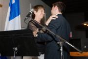 Françoise David a félicitéGabriel Nadeau-Dubois après sa victoire,... (PHOTO NINON PEDNAULT, LA PRESSE) - image 2.0