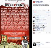 Sur sa page Facebook, l'organisation du Rockfest fait... (Capture d'écran, page Facebook du Rockfest) - image 1.0