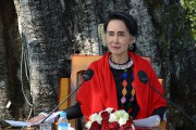 La leader birmane Aung San Suu Kyi... (Archives AFP) - image 2.0