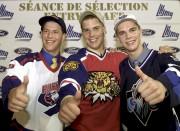 Steve Bernier (au centre), de Québec, choisi au... (Photothèque Le Soleil) - image 6.0