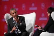 Barack Obama répond à une question deSophie Brochu.... (André Pichette, La Presse) - image 2.0