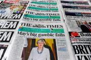«Le grand pari de May échoue», titre le... (PHOTO DANIEL SORABJI, AGENCE FRANCE-PRESSE) - image 1.0