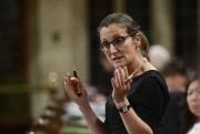 La ministre des Affaires étrangères du Canada, Chrystia... (Archives, La Presse canadienne) - image 2.0
