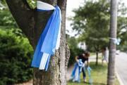 Des rubans symbolisant la «prise de conscience» sont... (AP) - image 2.0