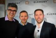 Yoshua Bengio, confondateur d'Element AI, Jean-Sébastien Cournoyer, cofondateur... (Photo Olivier Jean, La Presse) - image 1.0