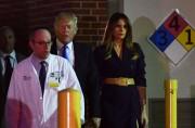 Donald et Melania Trumpont discuté avec le docteur... (AFP) - image 2.0