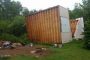 Une tornade a causé d'importants dommages dans le... (Photo tirée de Facebook) - image 1.0