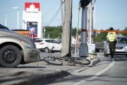 La collision est survenue à 6 h sur... (Stéphane Lessard) - image 1.0