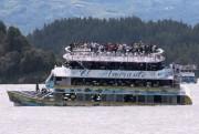 L'Almirante, une embarcation à quatre ponts, a coulé... (AFP, Juan QUIROZ) - image 2.0