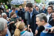 Le premier ministre Justin Trudeau à Sainte-Anne-de-la-Pérade.... (Olivier Croteau, Le Nouvelliste) - image 3.0