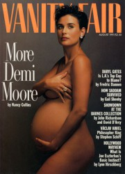Demi Moore, alors qu'elle faisait la première page... (Photo tirée du site de Vanity Fair) - image 2.1