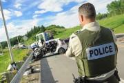 Un patrouilleur spécialisé en enquêtes de collision a... (Photo Le Progrès, Gimmy Desbiens) - image 2.0