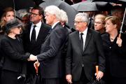 De gauche à droite: la veuve d'Helmut Kohl,... (AFP, Tobias SCHWARZ) - image 1.0