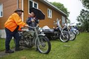 Plusieurs motos d'époque étaient exposées à Hérouxville.... (Olivier Croteau) - image 3.0