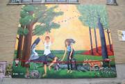 La murale Les espaces verts parl de protection... (Janick Marois) - image 3.0