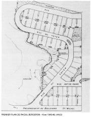 Plan des premières rues du Foyer Coopératif de... (Livre Au Temps des Rêves et des Défis, Armand Demers, 1985.) - image 1.0