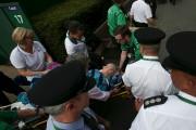 L'Américaine Bethanie Mattek-Sands a subi une grave blessure... (AFP) - image 1.0