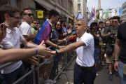 Le maire de Londres Sadiq Khan étaitprésent à... (PHOTO NIKLAS HALLE'N, AFP) - image 1.0