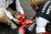 L'Australien Richie Porte a quitté l'étape sur une... (Photo PHILIPPE LOPEZ, AFP) - image 3.0
