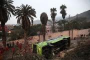 L'autocar s'était rendu sur la colline pour donner... (PHOTO OSCAR FARJE, AFP/AGENCIA ANDINA) - image 1.0