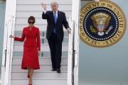 Le couple présidentiel a atterri tôt jeudi matin... (AP) - image 1.0