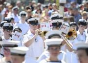 Des musiciens de la Marine royale canadienne ont... (Andréanne Lemire) - image 2.0