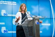 La chef de la diplomatie européenne, Federica Mogherini,... (AFP, Aurore Belot) - image 3.0
