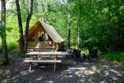 Des tentes Huttopia sont offertes dansLe parc des... (Photo François Roy, Archives La Presse) - image 2.0