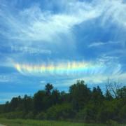 Des Estriens ont pu observer un phénomène météorologique... (Photo Amélie Boissonneau) - image 1.0