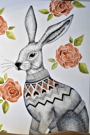 Bénédicte, une lapine «bobo» portant un chandail de... (Le Soleil, Patrice Laroche) - image 3.0