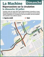 La circulation sera passablement difficile dans... (Courtoisie, Ville d'Ottawa) - image 14.0
