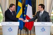 Le président français Emmanuel Macron a reçule premier... (AFP, Michel Euler) - image 2.0
