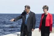 Le maire de Chambord, Gérard Savard, montre le... (Photo Le Quotidien, Dominique Gobeil) - image 2.0