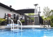 Le coin piscine est resté à son emplacement... (Le Soleil, Jean-Marie Villeneuve) - image 3.0