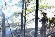 Vers 20h, les pompiers ont plié bagage après... (Photo Le Quotidien, Rocket Lavoie) - image 3.0