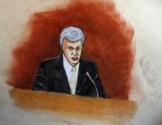 Un croquis de cour illustrant David Mueller.... (AP) - image 2.0