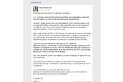 C'est sur sa page Facebook que Patrick Vaillancourt... (capture d'écran) - image 1.0