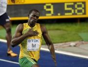 Usain Bolt a établi la marque de 9,58... (Archives AP, Michael Sohn) - image 4.0