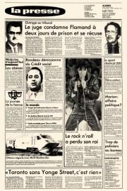 La nouvelle de la mort d'Elvis s'est retrouvée... (Photo Archives La Presse) - image 1.0