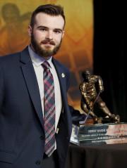 Will Butcher a remporté le trophée Hobey Baker... (AP, Nam Y. Huh) - image 3.0