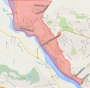 Près de 4000 résidences de deux zones du secteur... (Carte: Ville de Gatineau) - image 2.0