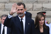 Le roi Felipe VI quittant la basiliqueSagrada Família,... (AFP) - image 2.0