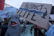 Les habitants des Galapagos ont manifesté ces jours... (AFP, Juan Cevallos) - image 2.0