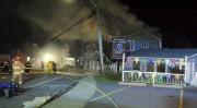 L'incendie s'est déclaré au milieu de la nuit... (Courtoisie Marcel Bacon) - image 1.0