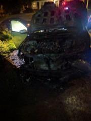 La voiture incendiée de Mohamed Labidi, président du... (FACEBOOK) - image 1.0